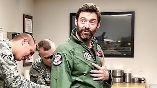 "Hugh Jackman ""Wolverine"" Flies In An F-16 Fighting Falcon"