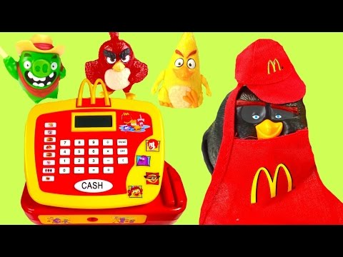 McDonald's Happy Meal Toy Surprises! Full Set of Angry Birds Movie Toys! Cash Register!