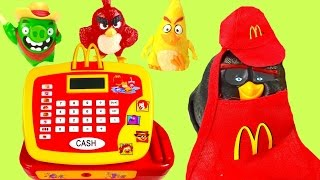 McDonald's Happy Meal Toys! Full Set of Angry Birds Movie Toys! Cash Register!