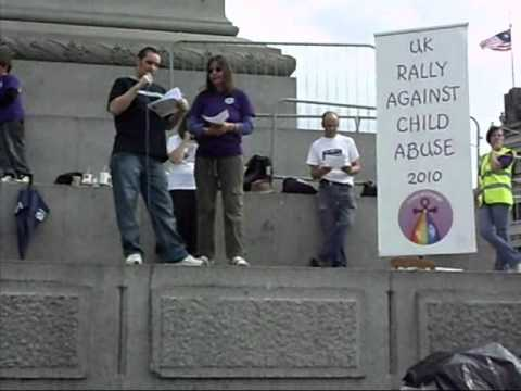 John Harrison speaks at the UK Rally against child abuse 2010