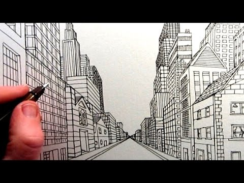 Street View Drawing How to Draw a City Street View