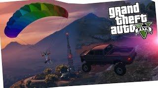SKY DIVING & EVADING COPS - GTA 5
