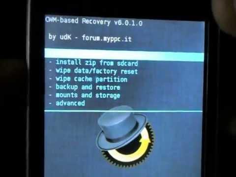 Instalar ROM Y Theme Desde Recovery Clockworkmod En Galaxy S I9000