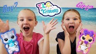 Gender Reveal Toys! Opening TLC Kritters! Boy or Girl Babies?
