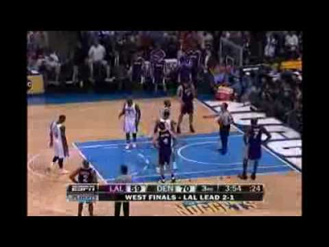 05 25 2009 Dahntay Jones trips Kobe Bryant on purpose!! Video
