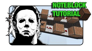 "Michael Myers ""Halloween"" - Note Block ""Tutorial"" (Minecraft Xbox 360/One/Ps3/Ps4)"