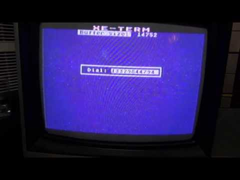 Connect an Atari 800XL to a dial-up BBS in 2014! XM301 300 baud modem XE TERM LORD