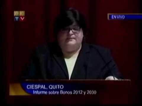 Bonos Global 2012 y 2030,  María Elsa Viteri, Ministra de Finanzas. P4