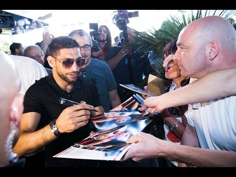 Amir Khan & Luis Collazo arrive at the MGM in Las vegas