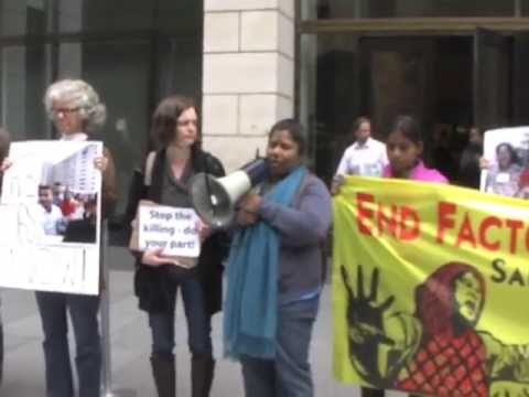 Bangladeshi Garment Workers And Health And Safety Advocates Picket SF HQ Of Gap