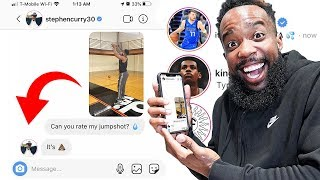 DMing NBA Basketball Players To Rate My Jumpshot! They Responded!!
