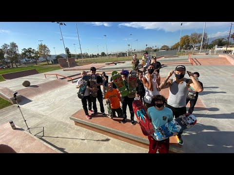 AMAZING NEW SKATEPARK IN LA PUENTE !!! - NKA VIDS -
