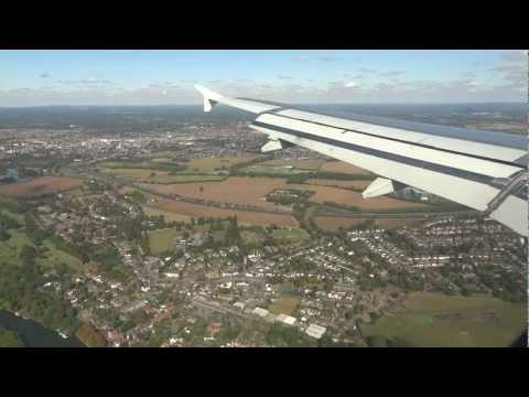 Landing in London, UK  (clear weather)