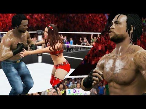 Wwe 2k15 Mycareer Next Gen Gameplay - Lame Wrestler No Match For Qjbeast - Brie Bella Manager video