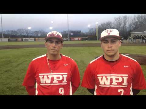 WPI Baseball Post-Game Interview - Anthony Capuano and John Caliri