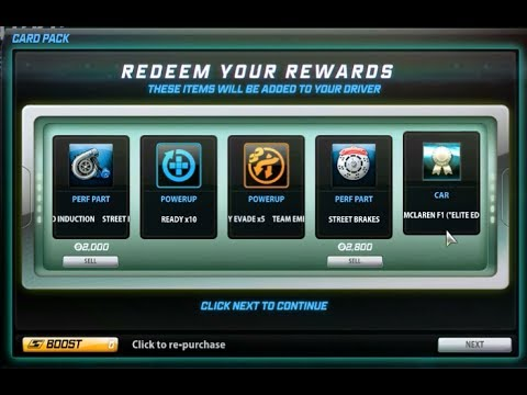 NFS World BEST Car Prize Pack, MCLAREN F1 DROP !!! + Code for 2k boost and 2 car prize packs.