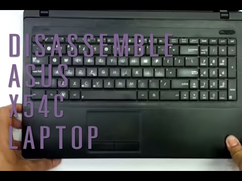 How to take apart/disassemble Asus X54C laptop