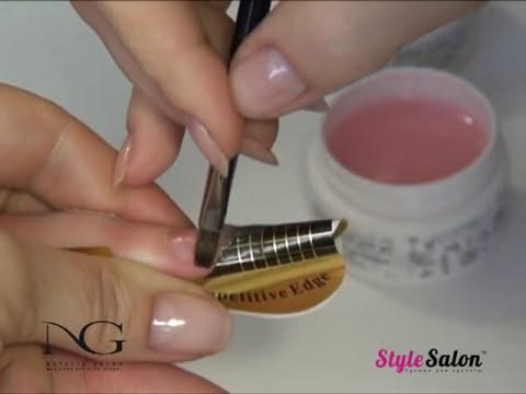Как нарастить ногти гелем видео мастер класс