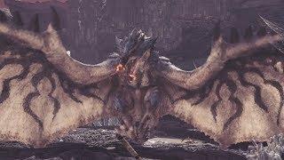 Monster Hunter World: Azure Rathalos Boss Fight #21 (Solo / Long Sword)