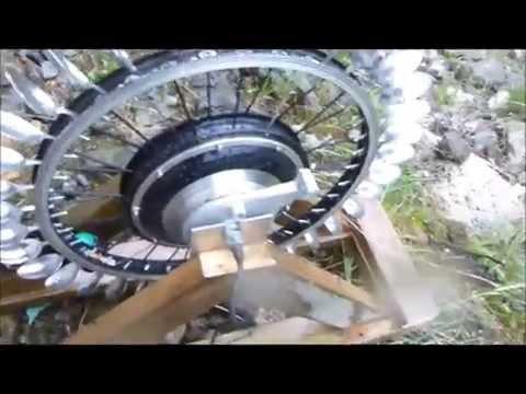 DIY Pelton Hydro Power with a 500W EBike Hub motor