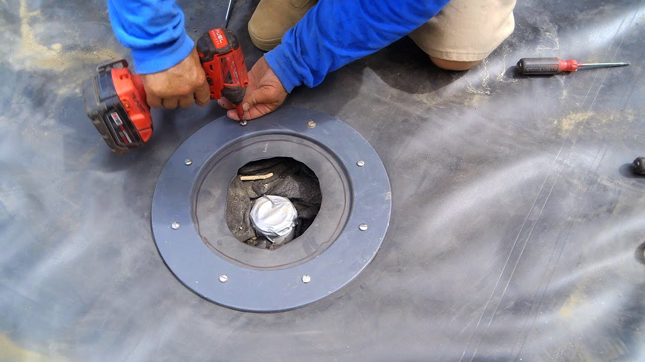 Pond Liner Bottom Drain Attachment 2 Kp 27 Youtube