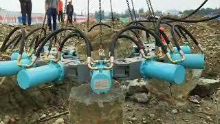 BEIYI Excavator Hydraulic Pile Breaker, Concrete Round Piles Head Cutter