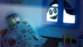 SUPERHERO BABY SPOTS REAL GHOST IN NIGHTMARE 💖 Play Doh Cartoons For Kids