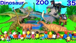Jurassic World Dinosaur Zoo Toys For Kids - Indoraptor Sauropods - Learn Colors with Animals
