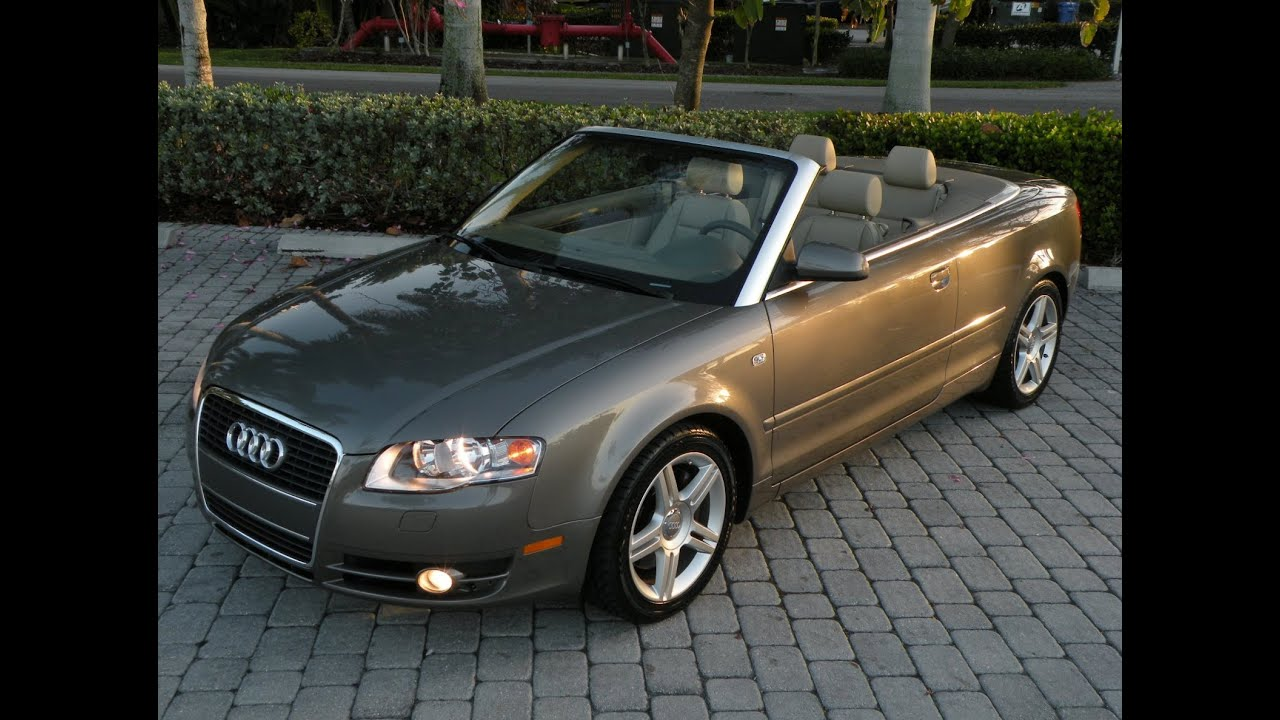 2007 Audi A4 Convertible For Sale Auto Haus Of Fort Myers