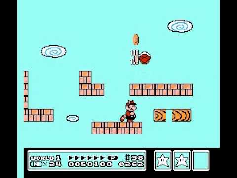Super Mario Bros 3 - Super Mario Bros 3 - Nintendo NES - secret white mushroom house after World 1-4 - User video