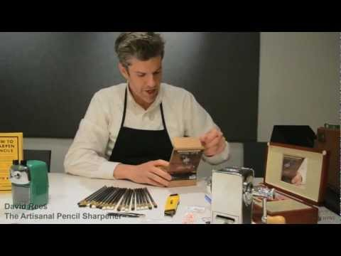 David Rees and Blackwing Pencils: Artisanal Pencil Sharpening