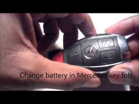 change battery in mercedes key fob