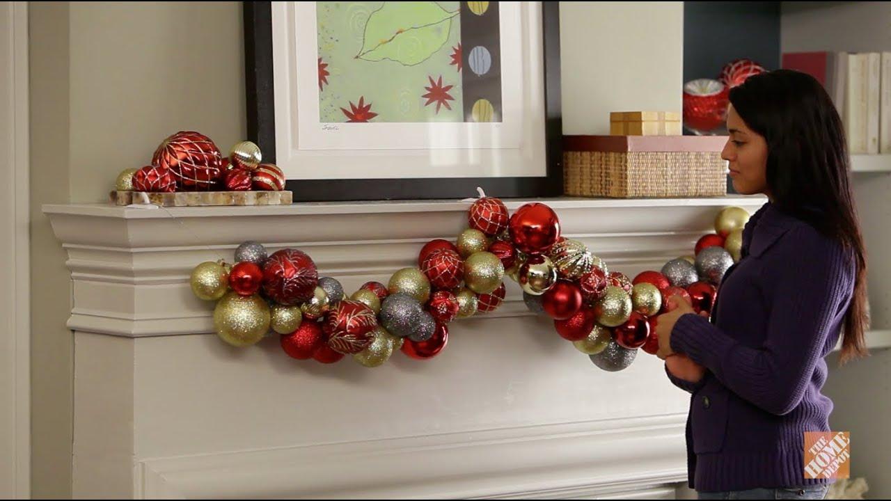 C mo hacer una guirnalda decorativa youtube - Como hacer guirnaldas de navidad ...