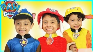 NEW Paw Patrol Play Doh Surprise Eggs Toys for Kids! Chase Marshall Rubble Zuma Sky Kids Costume Fun