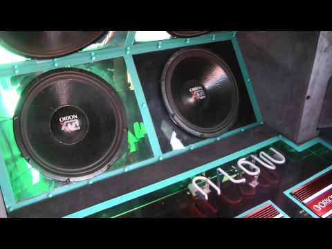 Old School Mini Truck Orion HCCA Amps ONLY 100 WATTS XTR Subs Flex Stereo System