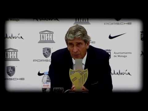 Homenaje a Manuel Pellegrini y al Málaga de Champions 2010 - 2013