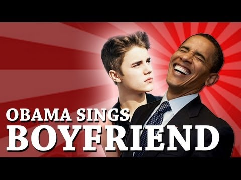 Barack Obama Singing Boyfriend By Justin Bieber video