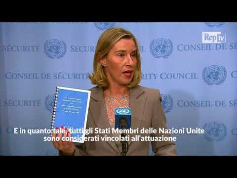 """Iran, Mogherini: """"Accordo non appartiene a un Paese, ma alla comunità internazionale"""""""