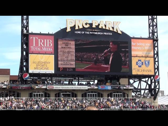 Shane Treloar sings AmericaThe Beautiful for Pittsburgh Pirates Home Opener 2012