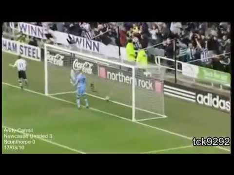 Andy carroll goals for newcastle