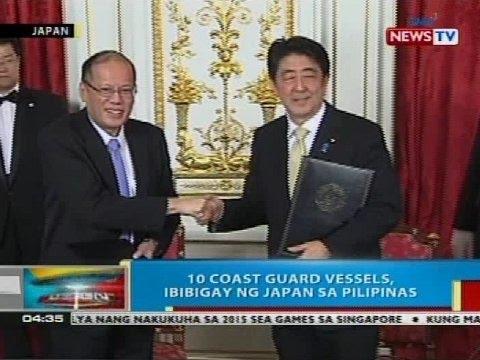 BP: 10 coast guard vessels, ibibigay ng Japan sa Pilipinas