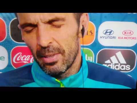 Euro2016 Gianluigi Buffon in lacrime dopo Germania vs Italia