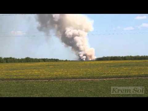 Под Уфой горят военные склады