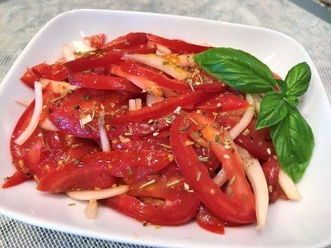 САЛАТ ИЗ ПОМИДОРОВ. Вкуснейший.  Простой рецепт. Tomato Salad.