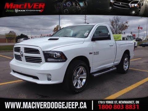 2014 Ram 1500 Regular Cab Sport | MacIver Dodge Jeep | Newmarket Ontario - YouTube