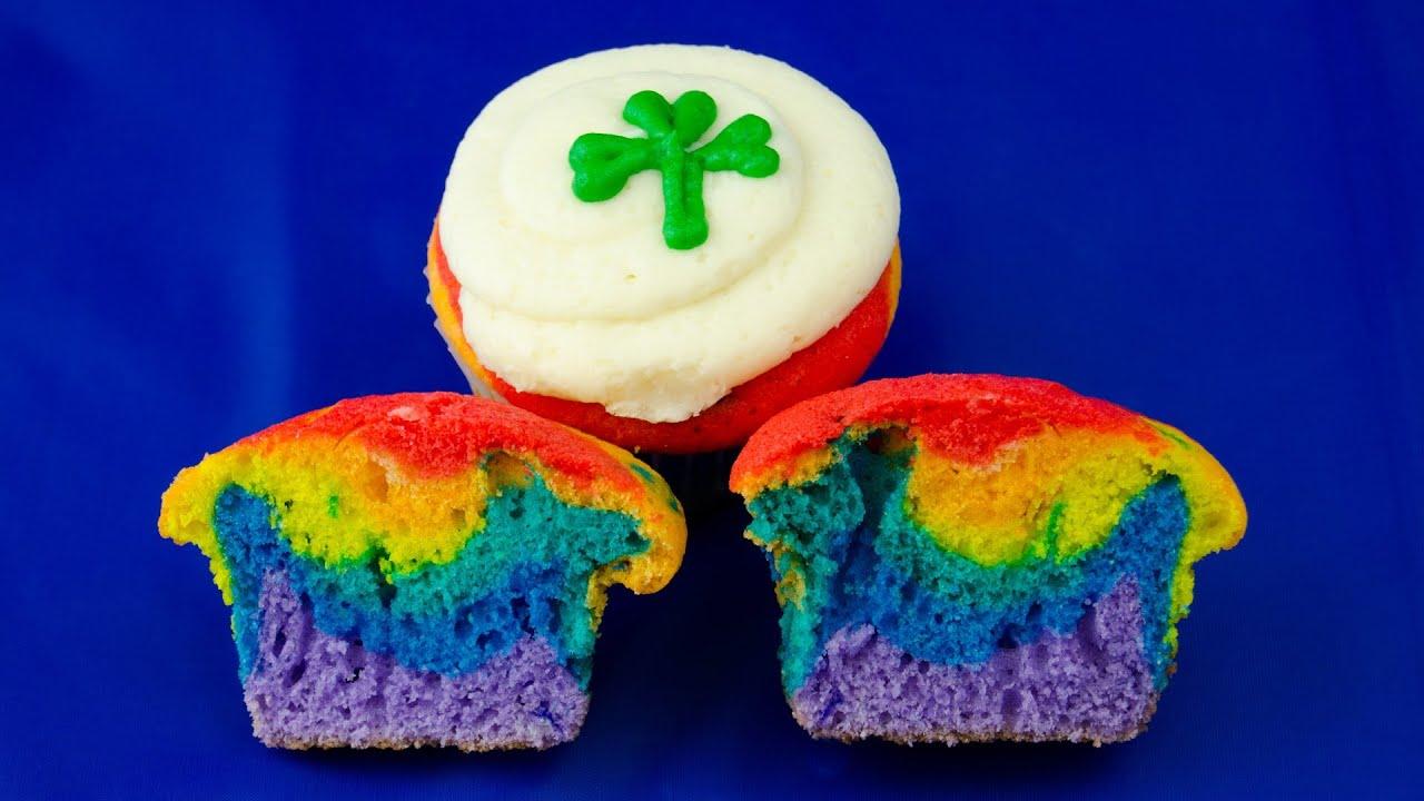 Making A Rainbow Cake Youtube