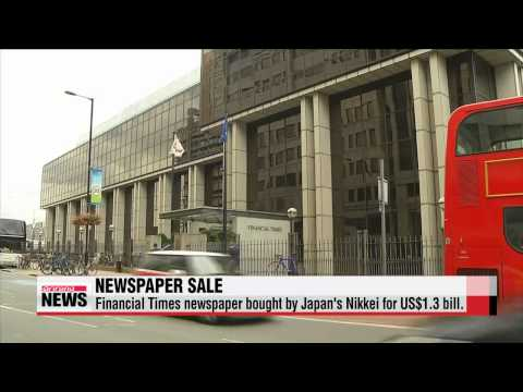 Financial Times newspaper bought by Japan′s Nikkei for US$1.3 bill.   127년 역사 영국