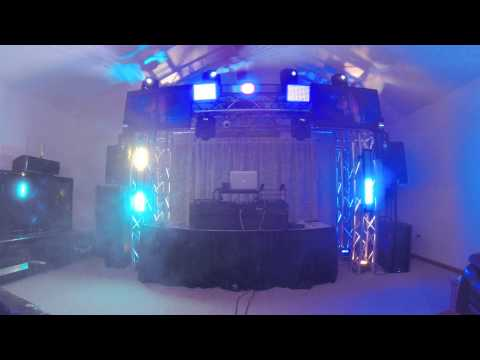 Mobile DJ light setup 2014