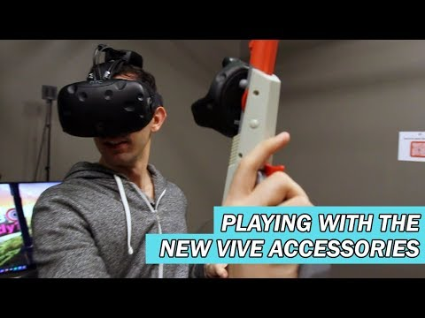 Playing with the new VIVE accessories