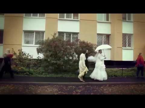 Романтическая свадебная прогулка. Видеосъемка свадьбы.